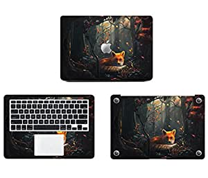 Theskinmantra Story of a Wolf Full Body Decal/Sticker/Vinyl for Apple MacBook Pro 13 Retina, A Pack of 3 pcs
