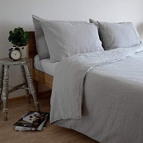 Copripiumino Lino.Linen Cotton Set Copripiumino Biancheria Da Letto In Lino Lavato