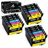 IKONG Cartouche pour Epson T1291 T1292 T1293 T1294 (T1295) Compatible avec Epson...