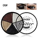 SMILEQ 5 Color Glitter Eyeshadow Cream Makeup Waterproof Brighten Eye Shadow Cosmetic (F)