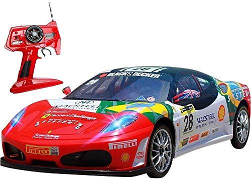 MECFIGH 40 km/h Elektronische Rennen Modell Sportwagen RC Funkfernsteuerung Rennwagen-4WD Professioneller Erwachsene Sport 2,4 GHz Drift Car Allradantrieb Spielzeug-Kind-Geschenk-Rot