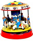 FreshGadgetz Vintage New 80's Tin Toys Classic Toy Carousel Box for Collection Collector