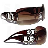 DG Eyewear  Sonnenbrillen für Frauen Übergroße Designer vintage brown Sonnenbrille Stilvolle - retro UV400 (UVA & UVB) - Mode Sonnenbrillen Damen Model: DG Beverly Hills (Damen-Accessories)