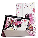 Schutzhülle für Acer Iconia Tab One 10 B3-A30 A3-A40 10.1 Zoll Case Bookstyle Cover Hülle + GRATIS Stylus Touch Pen (Schmetterling)