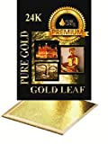 Blattgold zum Vergolden, Große 8-cm-Blätter, 24ct Blattgold, 10Blatt, Vergoldungs-Blattgold