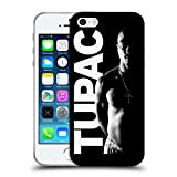 Head Case Designs Offizielle Tupac Shakur Schwarz Weiss Kunst Soft Gel Hülle für Apple iPhone 5 / 5s / SE