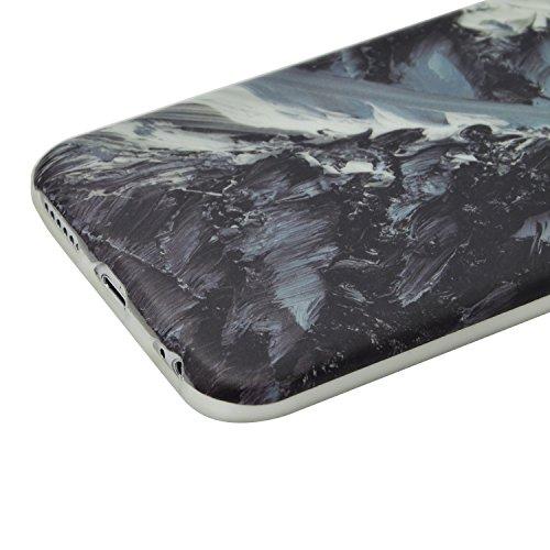 iPhone 7 Plus Marmor Hülle,iPhone 7 Plus Marble Case,Sunroyal Kreative Stylish Schickes Retro Elegant Schön Rosa Pattern Silikon Handyhülle Weiß Stein Glamour Ultradünn Marble Malerei Muster Schlank T Pattern 02