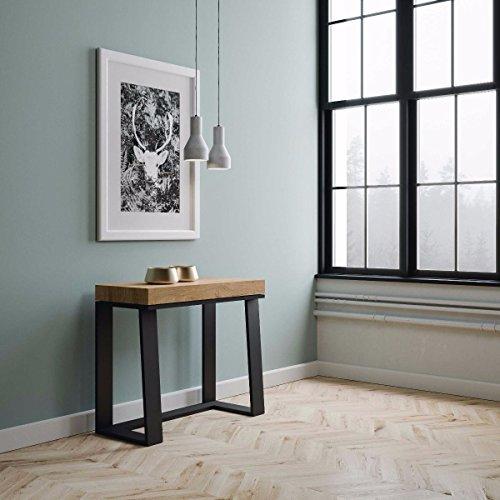 Group Design Console Asie en Bois Blanc frêne L.90 P.40 H.77 Extensible jusqu'à 288 cm