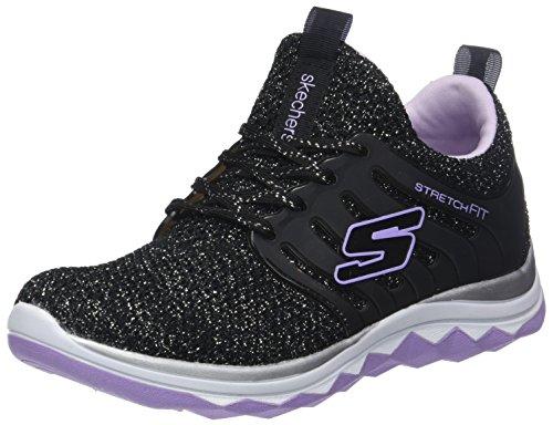 Skechers Mädchen Diamond Runner - Sparkle Sprint Sneaker, Schwarz (Black/Lavender), 36 EU -