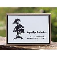 Trauerkarte, hellbraun mit Bäumen, mit Kuvert, handgefertigt/handmade, Beileidskarte, Kondolenz