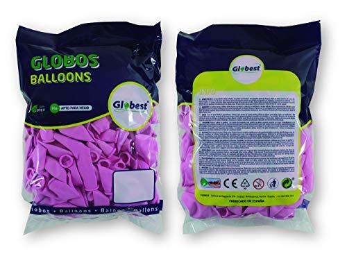 Globest- Globos de látex decoración, Color lila bebé (Festival 50286)