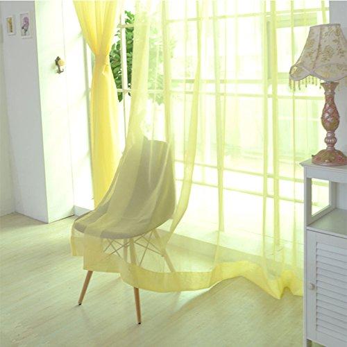 Crinkle-voile (Lanlan Tüll Voile Vorhänge Line String Fenster Vorhang Tür Raum Fall Panel Sheer Schal Volants 1x 2m, Mehrfarbig)