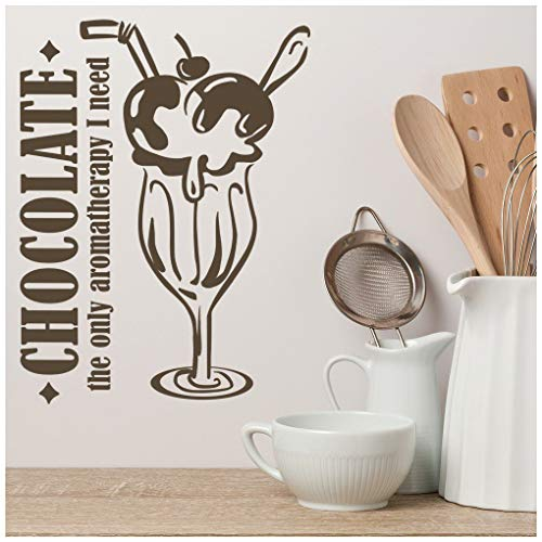 Azutura cioccolato lunica aromaterapia citazioni alimentari e slogan adesivo murale cucina decalcomania disponibile in 5 dimensioni e 25 colori x-grande moss verde