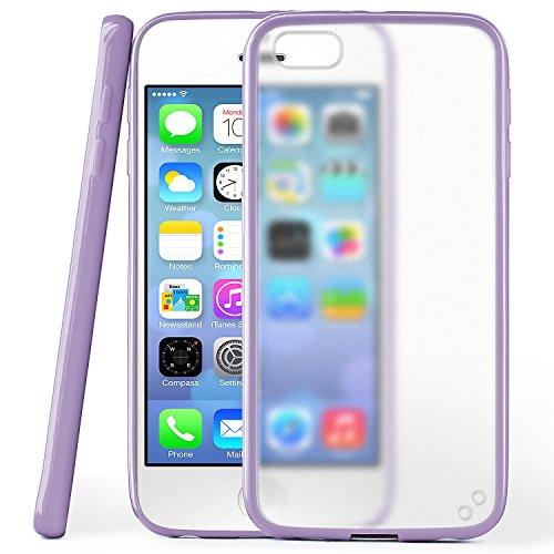iPhone 5S Hülle Slim Transparent Mint-Grün [OneFlow Impact Back-Cover] Dünn Schutzhülle Silikon Handy-Hülle für iPhone 5/5S/SE Case TPU Tasche Matt INDEGO-VIOLET
