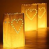 Best Heart To Heart Garden Decors - Iable 30 X Paper Tea Light Candle Lantern Review
