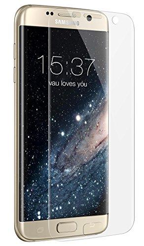 vau Schutzfolie für Samsung Galaxy S7 Edge - Folie deckt gesamte Front und runde Seite ab ( 6er Set Screengards Displayschutzfolie transparent )