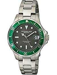 Stührling Original 664.03 - Reloj analógico para hombre, correa de acero inoxidable, color plateado
