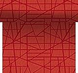 Duni Tête-à-Tête-Tischläufer aus Dunicel alle 120 cm perforiert, Muster Maza Maze mandarin, 40 x 2400 cm