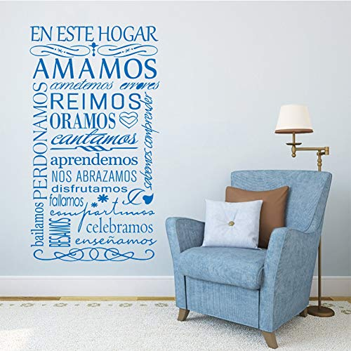 yiyiyaya Vinyl wandaufkleber Spanisch in diesemHaus wandaufkleber wandbild wandtattoo Kunst tapete wandaufkleberposter dekoration56 * 110 cm