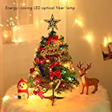 Mallalah Arbre Noël Sapin Artificiel Pin LED Lumière de 20 Petites Ampoules 3M Table Décoration Xmas Party Ornement Sapin Maison Bureau Tabletop Shop Fenêtre DIY Décor 50 cm