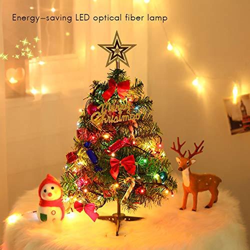 Albero Di Natale 50 Cm.Mallalah Albero Di Natale 50cm Con Led Light 20 Small Bulbs 3m Decorazione Di Tavola Christmas Party Festone Per Home Office Tavolo Table Showcase