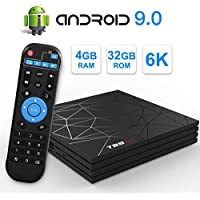 T95 Max Android 9.0 TV Box with 4GB RAM 32GB ROM Allwinner H6 Quad-Core Cortex-A53 CPU Supports 6K 4K H.265 Output 2.4GHz WiFi 100M LAN Enternet USB 3.0 Set Top Box