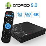 T95 Max Android 9.0 TV Box con 4GB di RAM 32GB ROM CPU Allwinner H6 quad-core Cortex-A53 Supporta 6K 4K Uscita H.265 2.4 GHz WiFi 100 M LAN Enternet USB 3.0 Set Top Box