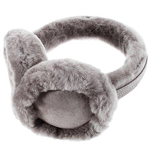 Ohrenschützer aus Wolle, kuscheliger Ohrwärmer für Damen und Herren, ein tolles Weihnachtsgeschenk für Ihren Freunden und Ihren Familien (grau)
