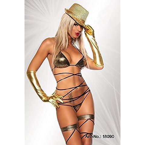 ZOYOL Giocare Woman'sDS fase abiti bikini costume nuovo bar ruolo costume costume , golden , Free