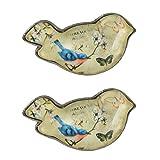 NIKKY HOME 2 Stück Türgriffe aus Griff Schublade zieht Elegante Möbel Schrank Vintage Style Vogel geformte dekorative Geschenk Metall und Glas Grün