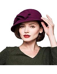 Gorros Elegante Otoño Invierno Campana Sombrero Moda Vintage Moderno Color Estilo Sólido Acogedor Cubo Sombrero Gorras