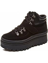 Zapatos Gruesos, Zapatos Redondos, Zapatos Planos, Zapatos Casuales, Zapatos , negro , EUR 35.5