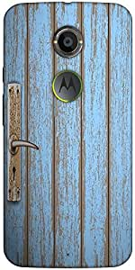 Snoogg Old Wooden Door Designer Protective Back Case Cover For Motorola X 2Nd...