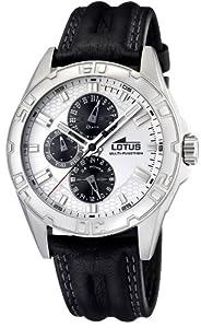 Reloj Lotus 15687/1 de caballero de cuarzo con correa de piel negra - sumergible a 50 metros de Lotus