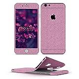 Urcover® Glitzer-Folie zum Aufkleben kompatibel mit Apple iPhone 6 Plus / 6s Plus | Folie in Pink | Zubehör Glitzerhülle Handyskin Diamond Funkeln Schutzfolie Handy-Schutz Bling Glamourös