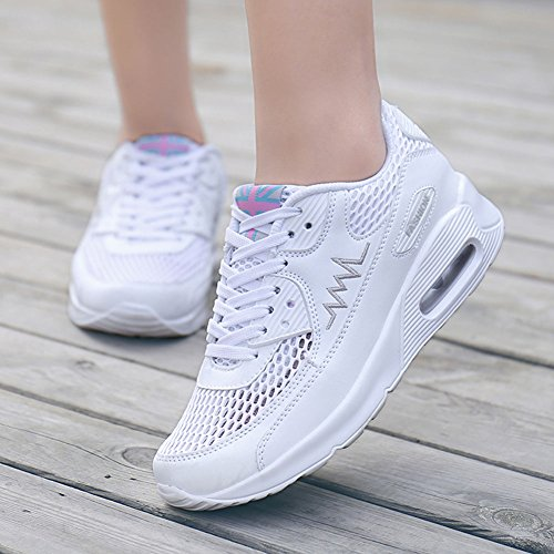 Wealsex Sportschuhe damen Schuhe Freizeit Sneaker Weiß