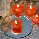 Festiko Candles Rose Aroma Scented Heart Tealight Candles -Set of 21 (12)