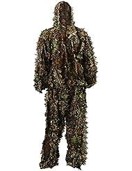 Zicac Outdoor militar de adultos 3d Hojas Hojas ropa de camuflaje selva Bosque Caza Ghillie libre tamaño