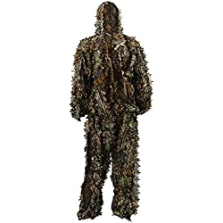 Zicac Camouflage 3D Ghillie Suit Tenu De Chasse Affût Militaire Photographie Homme Enfant Veste Pantalon Ensemble Léger
