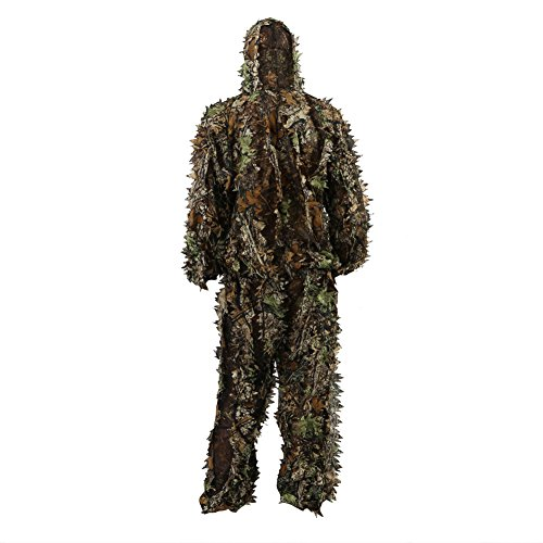 nzug Camo Dschungel Ghillie Suit Woodland Camouflage Kleidung Jagd Schießen Free Size (Tarnung) (Jagd Camo-blätter)