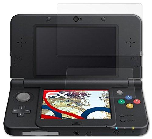 atFoliX Anti-Choque Lámina Protectora de Pantalla Nintendo New 3DS (2015) Antichoque Película Protectora - Set de 3 - FX-Shock-Antireflex