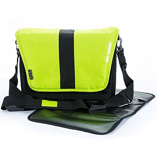 Preisvergleich Produktbild ABC Design Wickeltasche Fashion / Windeltasche mit praktischer Wickelunterlage / Lime / Babytasche zum Umhängen und vielen Highlights