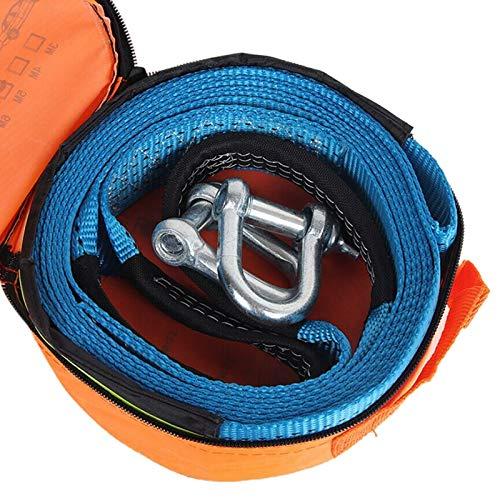 XZANTE 5 Mt 8 Tonnen Zugseil Band Kabel Mit U Haken Schäkel Hochfestem Nylon Mit Reflektierendem Licht Für Auto Truck Trailer SUV