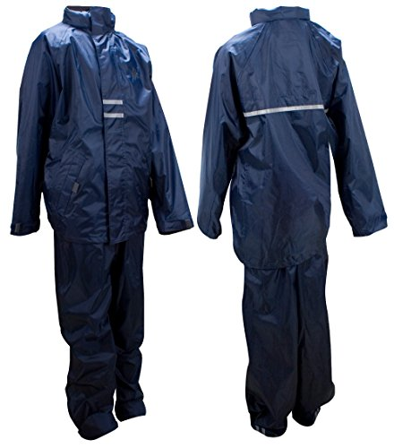 Ralka Kinder Inklusive Regenjacke und Regenhose Regenanzug, Marine/Anthrazit, 152 (Regen Boys Jacke Wasserdichte)