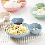 Surenhap Cuencos BPA I Tazones de Cereales Cuenco de Frutas Cuenco de Madera Tazón de Servicio de Servicio de Mesa Vajilla para Niños - Azul