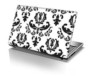 "Snoogg Black Pattern Designer Designer Laptop Skin Sticker for 14 to 15"" Laptops"