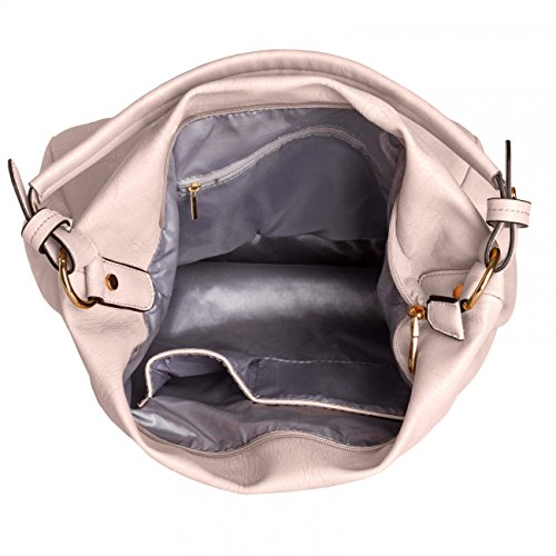 CASPAR Damen Tasche / Handtasche / Umhänge Tasche / Schultertasche - in vielen Farben - TS916 hellrosa