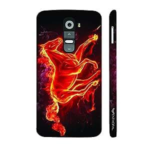 LG G2 Smoking Horse designer mobile hard shell case by Enthopia