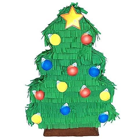 Christmas Tree Pinata, 20 Holiday Decoration, Party Game and Photo