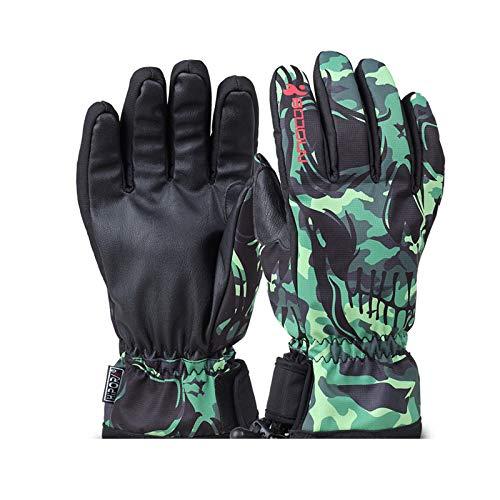 Blisfille Winterblumenmaske Ski Fahrende Warme Handschuhe Style 1 Size Large